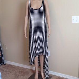 MICHAEL Michael Kors asymmetrical striped dress XL